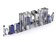 Crate handling systems